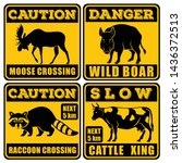 Set Of Road Signs   Attention...