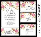 wedding invitation  thank you... | Shutterstock .eps vector #143640256