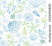 fresh colorful seamless pattern ...   Shutterstock .eps vector #1436406830