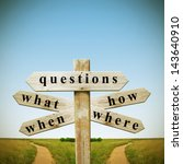 questions and answers | Shutterstock . vector #143640910