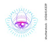 mystical geometry symbol.... | Shutterstock .eps vector #1436414339