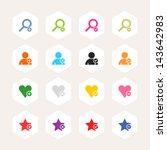 loupe  user profile  star ...