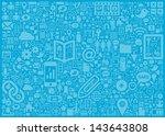 social media background | Shutterstock .eps vector #143643808