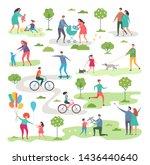 outdoor activism in urban park. ... | Shutterstock . vector #1436440640
