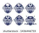 sport club logo set template... | Shutterstock .eps vector #1436446733