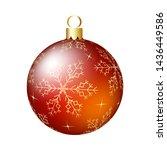 christmas  new year  ball. eps... | Shutterstock .eps vector #1436449586