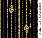 gold  metal shine chains  with... | Shutterstock .eps vector #1436454020