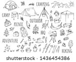 hand drawn illustration camp... | Shutterstock .eps vector #1436454386