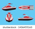 vector illustration of jet ski...   Shutterstock .eps vector #1436455163