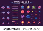 space pixel game vector ... | Shutterstock .eps vector #1436458070