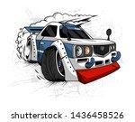 racing car drift on road vector ...   Shutterstock .eps vector #1436458526