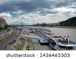 river cruise boats on danube... | Shutterstock . vector #1436465303