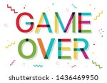 game over colorful banner with... | Shutterstock .eps vector #1436469950