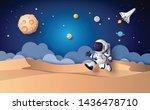 astronaut floating in the...   Shutterstock .eps vector #1436478710