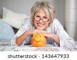 conceptual portrait of happy... | Shutterstock . vector #143647933