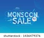 happy monsoon season sale offer ... | Shutterstock .eps vector #1436479376