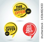 sale special offer and isolated ... | Shutterstock .eps vector #1436482433