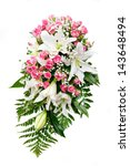 beautiful bridal bouquet at a...   Shutterstock . vector #143648494