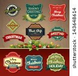 collection of vintage retro... | Shutterstock .eps vector #143648614