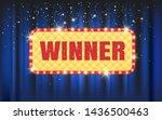 winner frame label with falling ... | Shutterstock .eps vector #1436500463