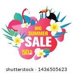 summer sale banner  hot season... | Shutterstock .eps vector #1436505623