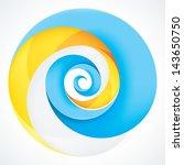 abstract infinite loop swirl... | Shutterstock .eps vector #143650750