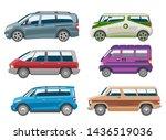 minivan car van auto vehicle... | Shutterstock . vector #1436519036