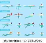 swimming swimmer sportsman... | Shutterstock . vector #1436519060