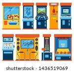 game machine arcade gambling... | Shutterstock . vector #1436519069