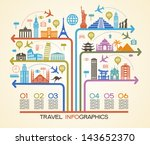 infographics elements  travel... | Shutterstock .eps vector #143652370