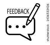 feedback icon design concept... | Shutterstock .eps vector #1436533436