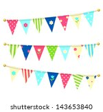vector triangle bunting flags... | Shutterstock .eps vector #143653840