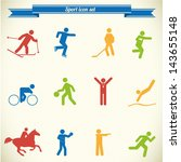 sport icon set in color 2 | Shutterstock .eps vector #143655148