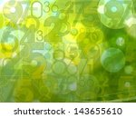 green fresh abstract random numbers background - stock photo