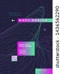 wavy geometric poster design.... | Shutterstock .eps vector #1436562290