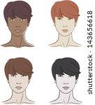 set of four beautiful women... | Shutterstock .eps vector #143656618