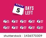 set of number days left... | Shutterstock .eps vector #1436570309