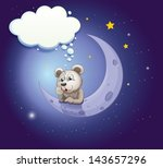 illustration of a gray bear... | Shutterstock .eps vector #143657296