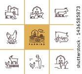 vector set of farming and farm...