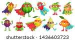 superhero fruit. super apple ... | Shutterstock . vector #1436603723