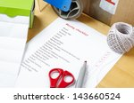 a house moving checklist on a...   Shutterstock . vector #143660524