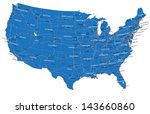 u.s.a. road map | Shutterstock .eps vector #143660860