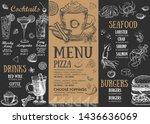 restaurant brochure vector menu ... | Shutterstock .eps vector #1436636069