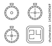 clock icons time with line art...