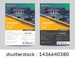 corporate business flyer poster ... | Shutterstock .eps vector #1436640380
