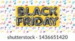 black friday black latex... | Shutterstock .eps vector #1436651420