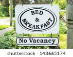 Bed   Breakfast Sign With No...