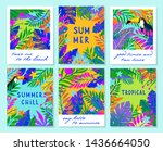 set of summer vector...   Shutterstock .eps vector #1436664050