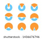 set pie chart icons. circle...