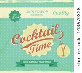 vintage design   cocktail time... | Shutterstock .eps vector #143670328